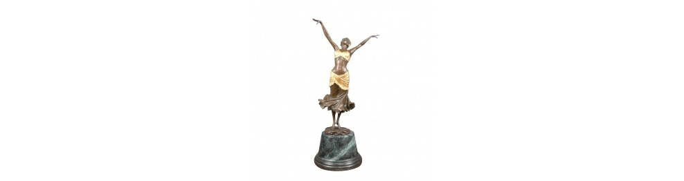 Estatuas de bronce de estilo art deco