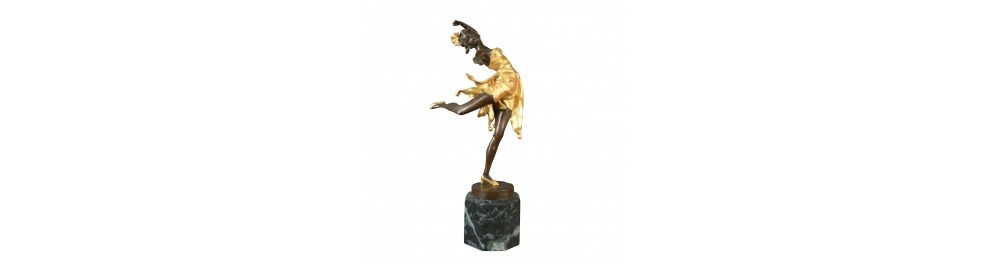 Bronze statues of dancers