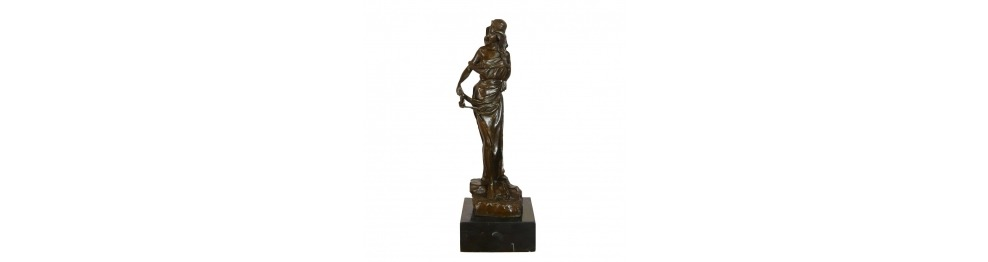 Bronze kvinder statuer