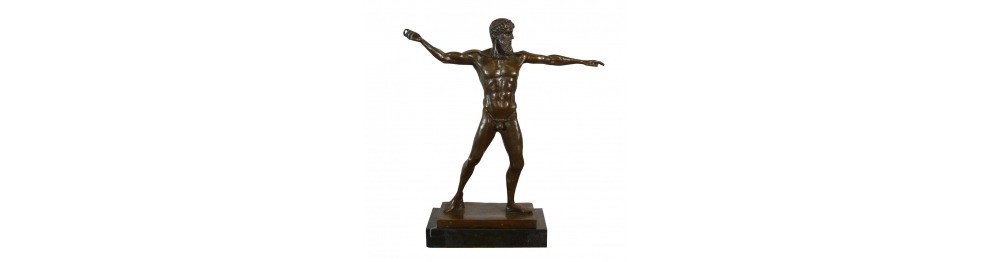 Bronze statues on mythology