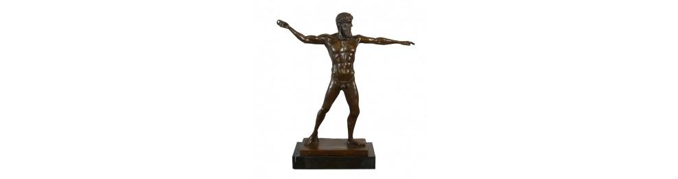 Statues en bronze sur la mythologie