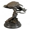 Bronze fugl statuer