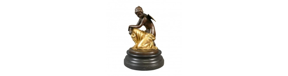 Le Statue in bronzo dei bambini e cherubini