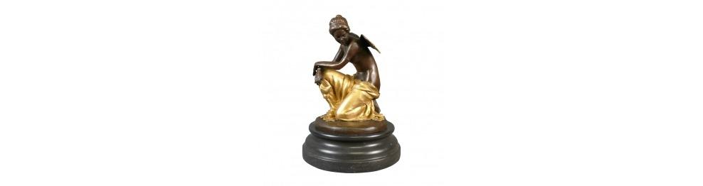 Bronze-statuen von kindern und engelchen