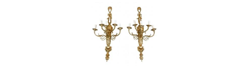 Aplicada estilo louis xvi apliques bronce bronce art deco - Apliques de bronce para muebles ...