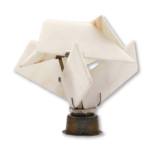Lampe fleurs art déco