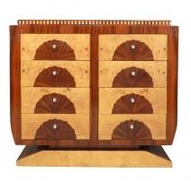 Commode art déco style 1930 avec 8 tiroirs