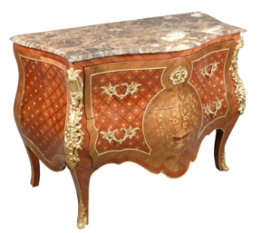 Commode Louis 15 en marqueterie