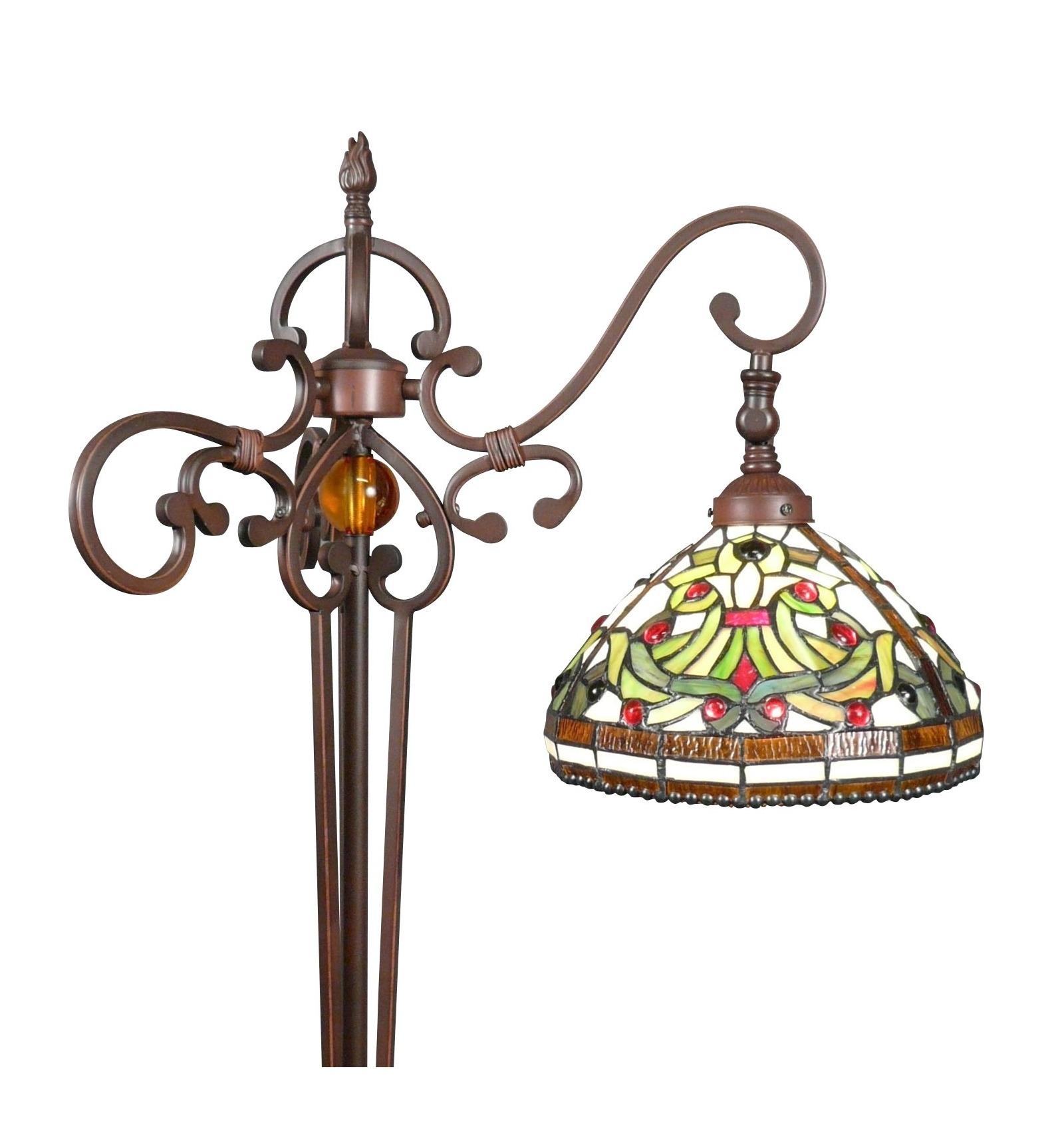 lampe de sol sur pied style Tiffany