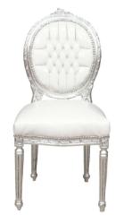 Chaise médaillon baroque louis xvi