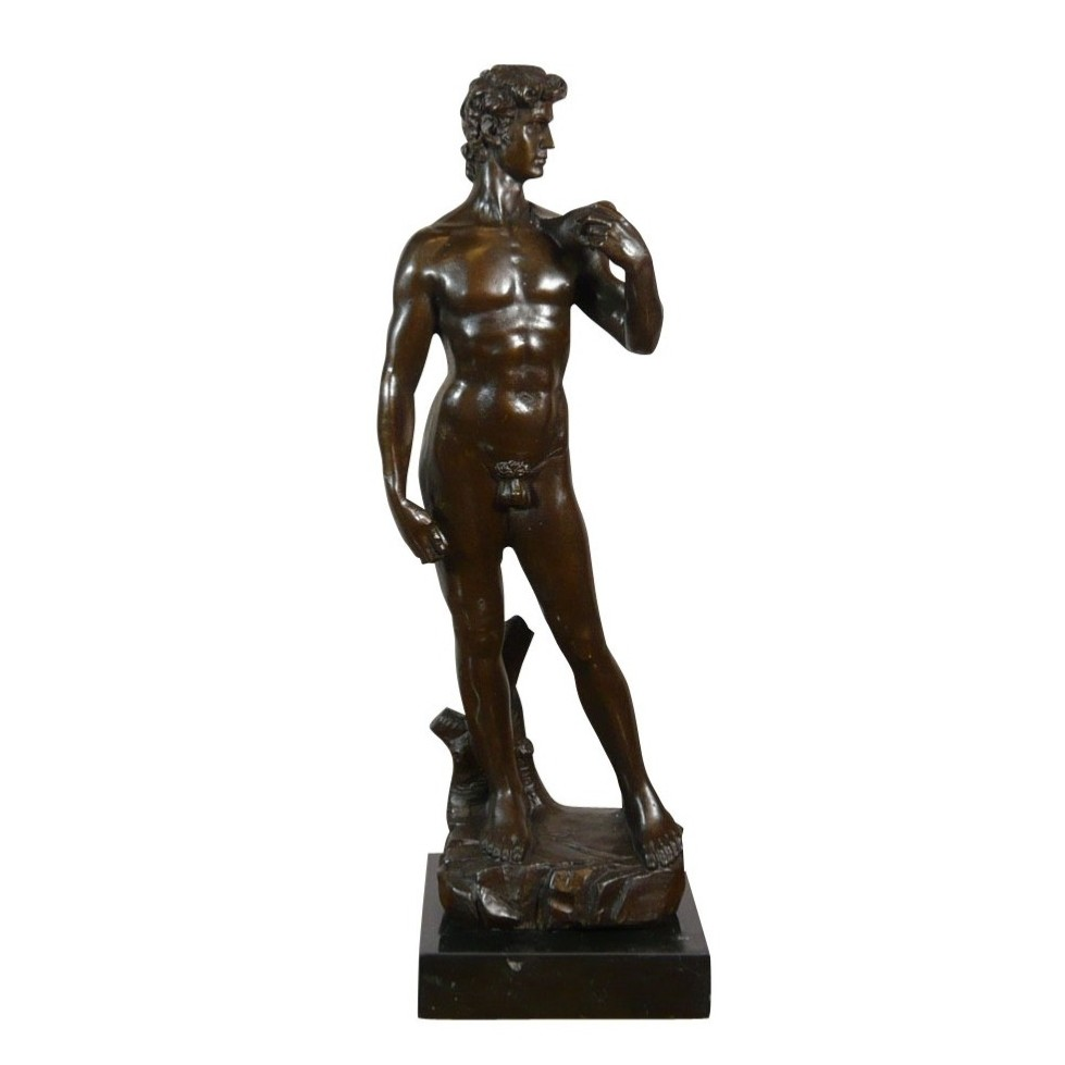 Sculpture en bronze d'un homme