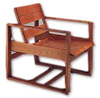 fauteuil transat en bois de 1924 par Eileen Gray