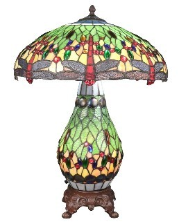 Lamp with a stained glass base Tiffany