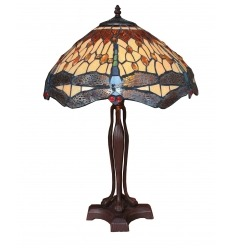 Lamp with base in Tiffany art nouveau style