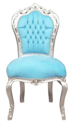 Chaise baroque bleue conforama
