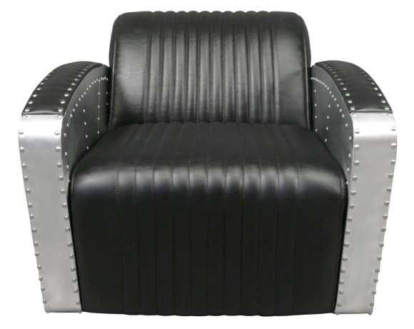 fauteuil aviateur noir