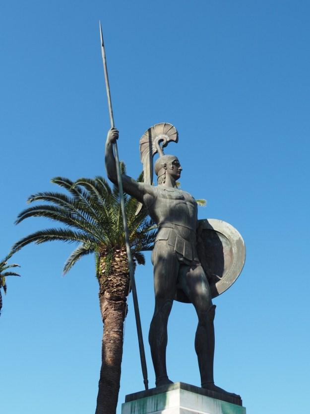 Statue d'Achille dans le palais d'Achilleion Corfou