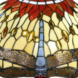 Vitrail en verre d'un abat-jour Tiffany