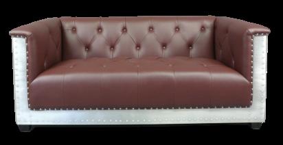 Canapé cuir et aluminium aviateur