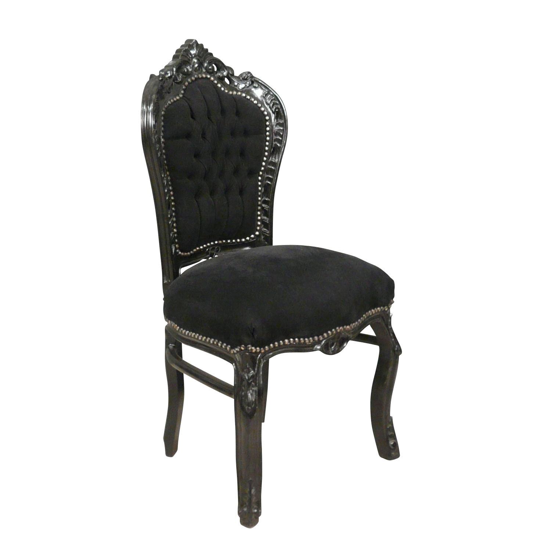 Chaise baroque noire