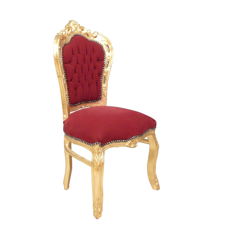 Chaise baroque dorée