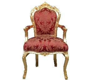 Chaise baroque avec accoudoirs