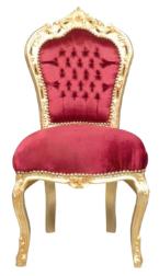 Chaise baroque royale dorée