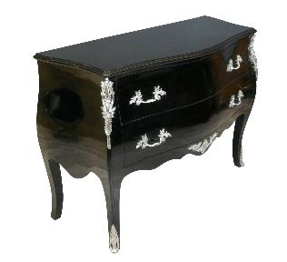 Grande commode Louis XV noire