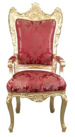 Fauteuil baroque doré