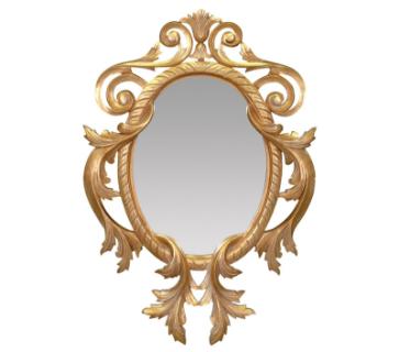Miroir baroque en bois doré