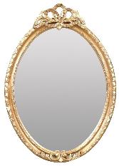 Miroir baroque ovale et rond doré