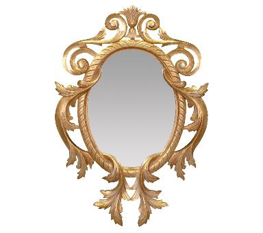 miroir baroque dore
