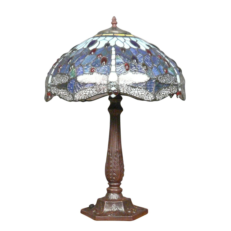 Lampe Tiffany libellules finie.