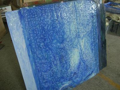 Plaque de verre bleue