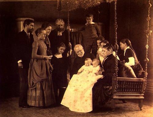Louis Comfort Tiffany en famille.