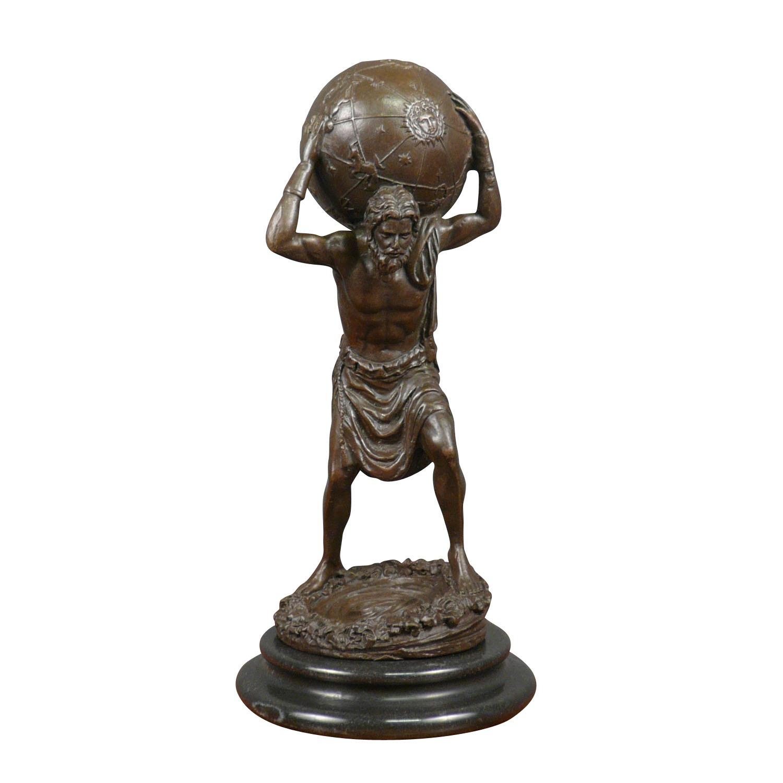 Statue en bronze mythologique représentant Atlas