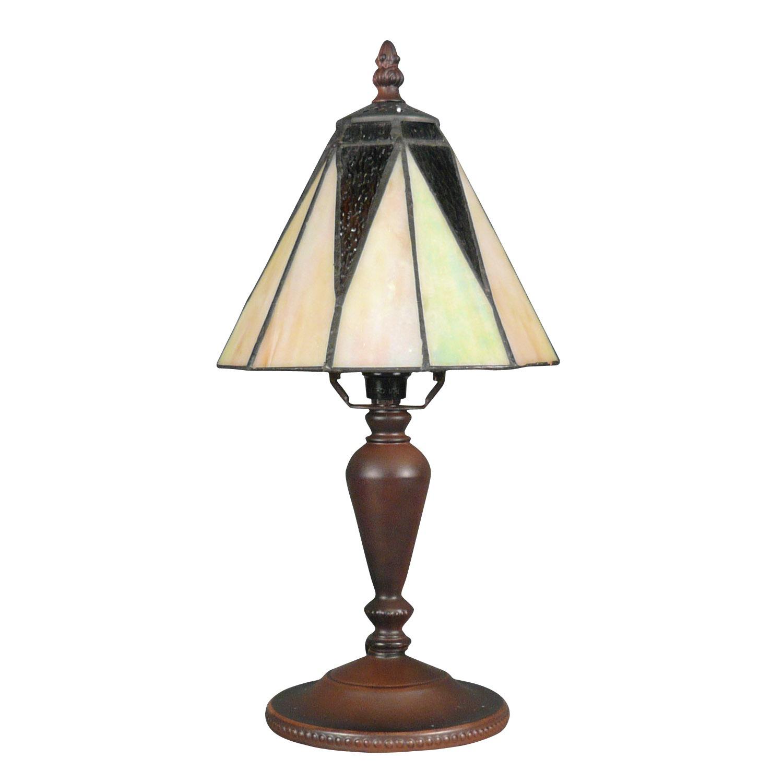 Lampe Tiffany art déco avec un fond blanc