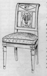 Chaise directoire