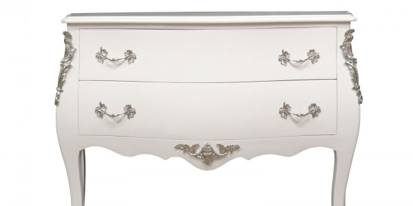 Commode style louis XV blanche