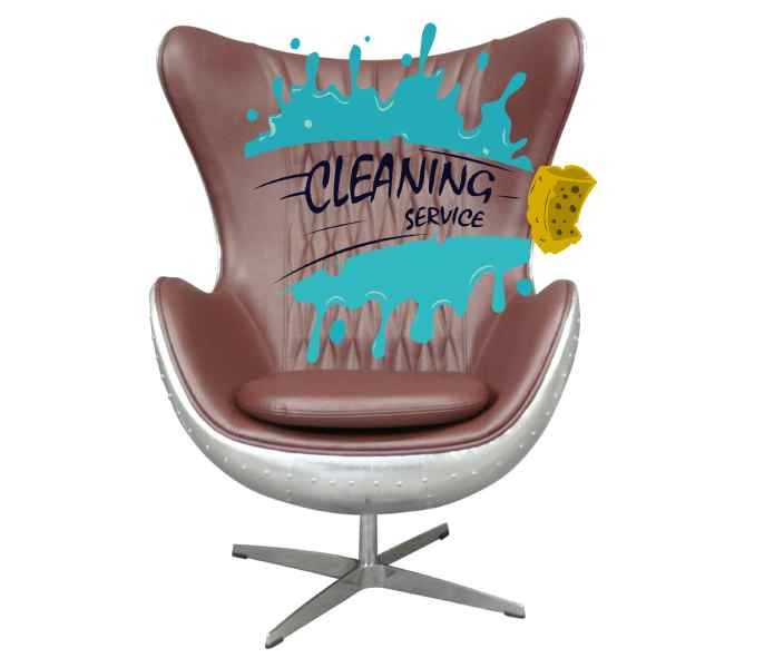 How do you clean your aviator armchair?