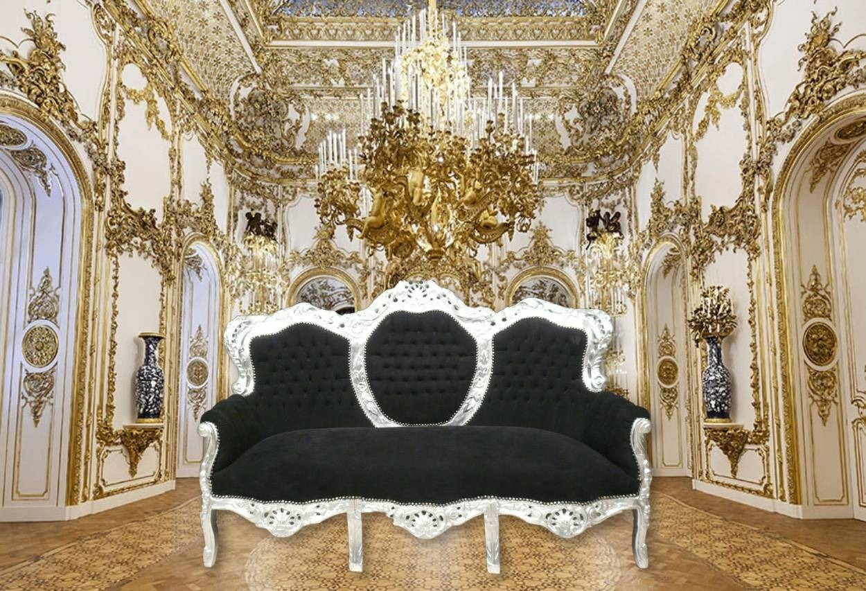 A baroque sofa for a world house